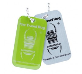 Geocaching QR Travel Bug® - Green