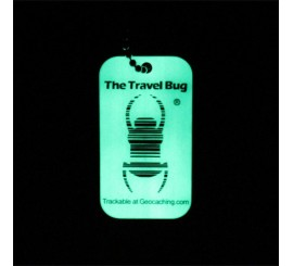 Geocaching QR Travel Bug® - Glow in the Dark
