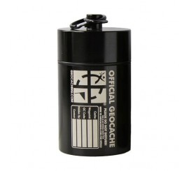 Small Cylinder Geocache- Black