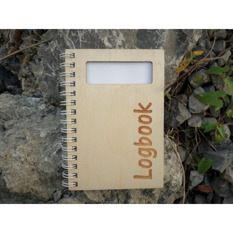 Wooden logbook 95 x 130 mm