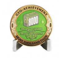 8000 Finds Geo-Achievement® Award Coin Set.