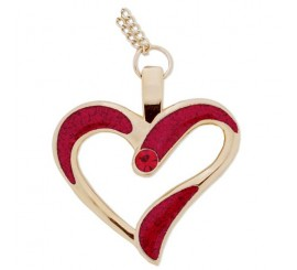 Eternal Love Geocoin Necklace- Polished Red/Gold